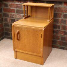 G Plan E Gomme Brandon Blonde Oak Two Tier Bedside Cabinet/Table