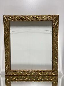 """Art Nouveau Art Deco Design Style Gold Wood Picture Frame Fits 16""""x18"""""""