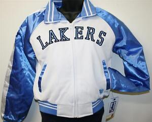NBA 4 HER Women's Los Angeles LAKERS Satin Starter Jacket Style LARGE