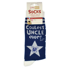 Lovely Boofle Uncle Socks Size 8-12 One Pair Birthday Christmas Gift Idea