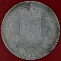 FRANCE 5 FRANCS LOUIS XVIII 1823 A ARGENT