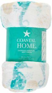 Coastal Home Shades Seahorse Oversized Signature Soft Throw 50'' x 70''