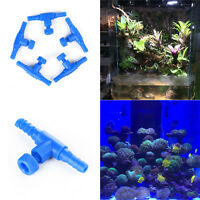 5Pcs Plastic Aquarium Fish Tank Air Line Flow Control Tubing Air Pump Valve Blue