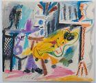 Pablo PICASSO : Le peintre et son modèle # LITHOGRAPHIE SIGNEE #1963