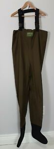 Vintage Orvis Chest High Fly Fishing Waders Size M Neoprene Foot Army Green