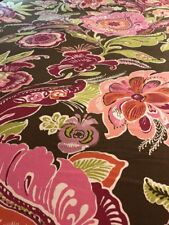 POTTERY BARN TEEN BOHO Pink & brown floral F/queen Duvet  cottage chic