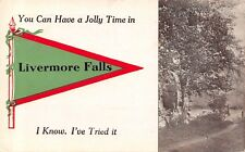 """You Can Have a Jolly Time"" in Livermore Falls Maine~I Know~1912 Pennant PC"