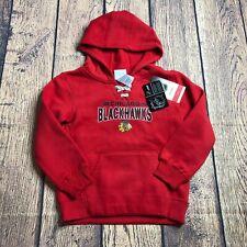 NHL Kids Size Large 7 Chicago Blackhawks Pullover Sweatshirt Logo Hoodie New