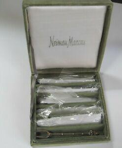 6 Appetizer Forks Silver Plate Neiman Marcus VINTAGE GODINGER SILVER ART
