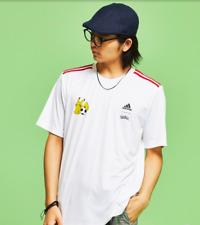 Pokemon Jersey adidas Pikachu T-shirt white MENS Crew neck Selectable size