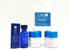 CND Creative Nail RETENTION Powder Pink + White .8oz + Liquid 4oz + Primer ~4ct~