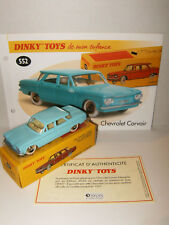 DINKY TOYS ATLAS CHEVROLET CORVAIR 552 au 1/43 avec Boite