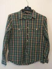 VURT Long Sleeve Green Navy Yellow White Plaid Button Up Shirt Mens Size M
