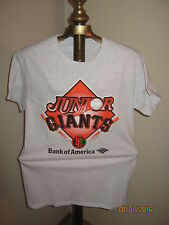 "SF Giants T-Shirt SMALL Youth / Fans ""JUNIOR GIANTS"" Gray"