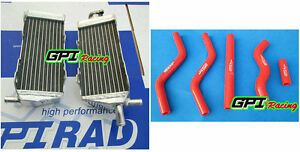 R&LH aluminum Radiator + HOSE For HONDA CR125 CR 125 CR125R CR 125R 1989 89