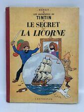1947 HergÉ Tintin Le Secret De La Licorne Bd Album Casterman