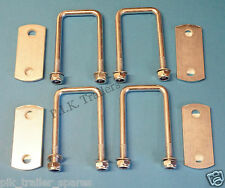 FREE P&P* 4 of 50mm x 76mm U Bolt with Plate Mild Steel - Trailer    #TR