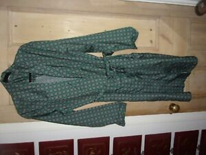 TOOTAL MENS DRESSING GOWN LARGE GREEN WITH PATTERN