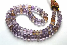 """NATURAL  Finest Natural Ametrine Faceted Rondelle BEADS NECKLACE 8 TO 10 MM 16"""""""