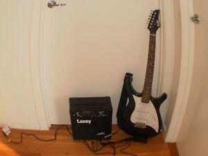 "Electric guitar - Belle ""John Lennon Rickenbacker"" COPY with Laney (U.K) amp"