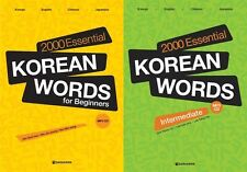 2000 Essential Korean Words for Beginners Intermediate 2 Books Freeship