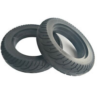 """10X2.50 Electric Scooter Solid Tire Rubber 10"""" Air Free Rear Wheel Tyre Black"""