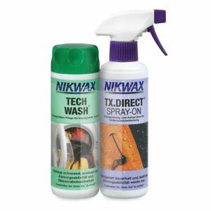 (2 x1 Liter / 66,50 Euro) je300 ml Nikwax Tech Wash + TX-Direct Spray Imprägnier