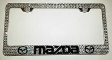 MAZDA Stainless Steel license plate frame W Swarovski Crystals