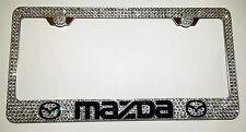 MAZDA Stainless Steel license plate frame W Swarovski Crystals