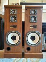 Vintage Fisher Speaker Pair Model STV-866 Magentic Field Compensated 100 watts