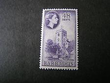BARBADOS, SCOTT # 244, 48c. VALUE VIOLET1953-57 QE2 DEFINITIVE ISSUE MVLH