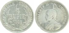 Colonies Pièces 1/4. Rupee 1909 A Ss +