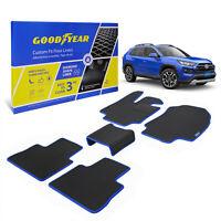Goodyear Car Floor Mats Floor Liners for Toyota 19-21 Rav4 5 pcs Black/Blue