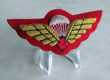 Canadian Airborne Basic Parachutists Qualified Red Maple Mess Kit Wing