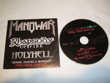 CD Manowar Rhapsody of Fire Holyhell - Promo Cardcover 2007 Tour Video Clip - K