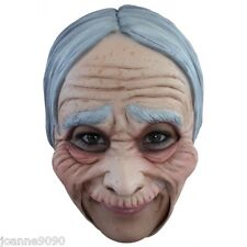 Halloween Chinless Old Lady Woman Witch Granny Fancy Dress Latex Costume Mask BN