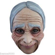 Halloween Bruja Mujer chinless anciana abuela Vestido Elaborado Disfraz Máscara De Látex BN