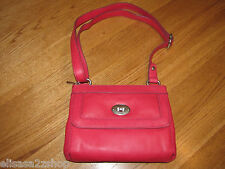 Fossil ZB5559675 Marlow Top Zip Flamingo Pink Leather purse NWT 148.00^^