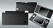 Black Carbon Fiber Vinyl Decal Cover Skin Sticker for Nintendo DSi NDSi
