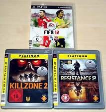 3 PLAYSTATION 3 PS3 SPIELE SAMMLUNG FIFA 12 KILLZONE 2 RESISTANCE 2 EGO SHOOTER