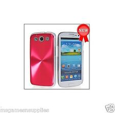 Red Aluminum Metal Plated Spiral Design Samsung Galaxy S3 SIII i9300 Hard Case