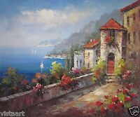 """High Quality Hand Painted Oil On Canvas 20""""x24"""" ~View of the Sea~"""