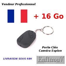 Mini Caméra Espion Porte Clés Bip Voiture Vidéo Photo Max Spy Car Key + 16 Go