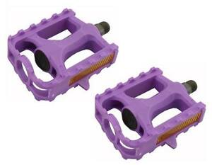 "M.T.B Pedals 861 1/2"" PURPLE bmx bicycle pedal.road bicycle pedal PLASTIC 1/2"