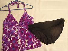 Tropical Escape Size 12 Halter Swim Top SZ. 14 Swimsuit Bikini Panty Set NWT