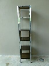 Marvelous Funky 70'S Mod Space Age Cubed 3 Stack Chrome And Lucite Etagere - P