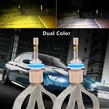 Dual Color H11 H8 H9 80W 11000LM LED Headlight Fog Light Kit 6000K 3000K Bright