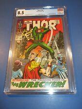 Thor #148 Silver age 1st Wrecker Origin Black Bolt Key CGC 8.5 VF+ Beauty Wow