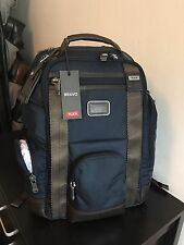 BRAND NEW W/TAGS! Tumi Alpha Bravo Shaw Deluxe BriefPack Backpack in Navy 222389