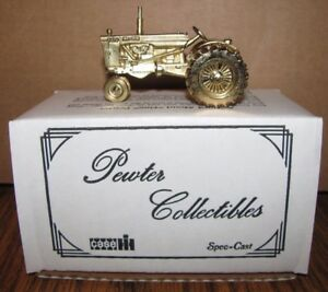 RARE GOLD Colored CASE Model 830 Tractor 1:43 Pewter Collectible Spec Cast Toy